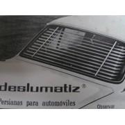 PERSIANA DESLUMATIZ SEAT 850 2 PUERTAS COLOR NEGRO