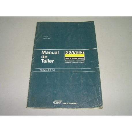 MANUAL DE TALLER RENAULT 18 TOMO 2 GUIA DE TASACIONES