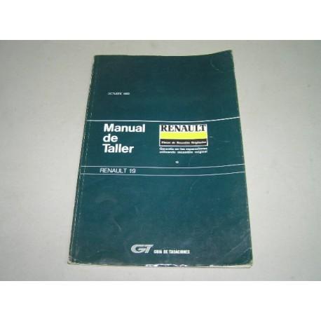 MANUAL DE TALLER RENAULT 19 GUIA DE TASACIONES