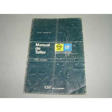 MANUAL DE TALLER OPEL CORSA MK1 GUIA DE TASACIONES