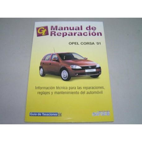MANUAL DE TALLER OPEL CORSA '01 GUIA DE TASACIONES