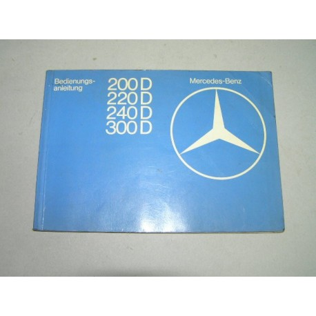 * MANUAL USUARIO MERCEDES W123 200D 220D 240D 300D EN ALEMAN