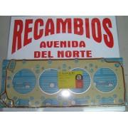 JUNTA DE CULATA RENAULT 18 GTD, 20 GTD Y 25 GTD MOTOR R-1354 DIESEL ESPESOR 1,60