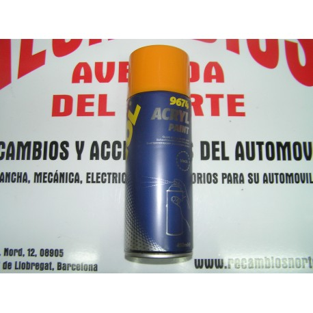 PINTURA ACRILICA NEGRO AUTOMOCIÓN MANNOL 9674