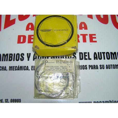 AROS PISTON MINI MK2 COOPER, MARINA STANDARD 64,58x1,6+1,6+1,6+3,16mm