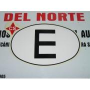 """PEGATINA ADHESIVO DE EPOCA, OVALO """"E"""" DE ESPAÑA PARA COCHE CLASICO DE LUBRICANTES CS"""