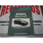 MANUAL DE TALLER VOLKS.GOLF-VENTO-92 GUIA DE TASACIONES