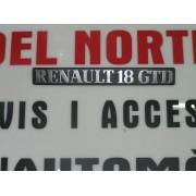 ANAGRAMA TRASERO PLASTICO RENAULT 18-GTD