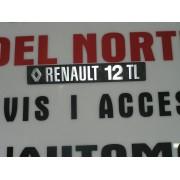 ANAGRAMA TRASERO METALICO RENAULT 12-TL