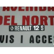 ANAGRAMA TRASERO METALICO RENAULT 12-S