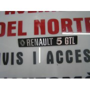 ANAGRAMA TRASERO METALICO RENAULT- 5- GTL