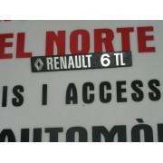 ANAGRAMA TRASERO METALICO RENAULT 6-TL