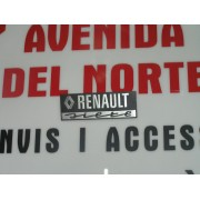 ANAGRAMA TRASERO METALICO RENAULT SIETE