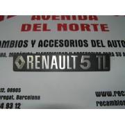 ANAGRAMA TRASERO PLASTICO RENAULT 5 TL