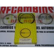 JUEGO DE SEGMENTOS PARA CUATRO PISTONES MOTORES 2,5 DIESEL SEAT FIAT 131 132 REF GOETZE 0821450010