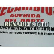 ANAGRAMA TRASERO DE PLASTICO RENAULT 9 GTD
