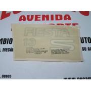 ANAGRAMA ADHESIVO FORD FIESTA 1300 S REF ORG 92FSB03050AA