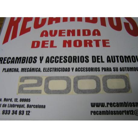 ANAGRAMA ADHESIVO NEGRO 2000 SEAT 124 Y 1430