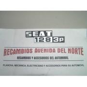 ANAGRAMA TRASERO SEAT 128 3P
