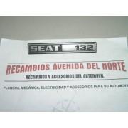 ANAGRAMA TRASERO SEAT 132