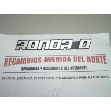 ANAGRAMA TRASERO SEAT RONDA D