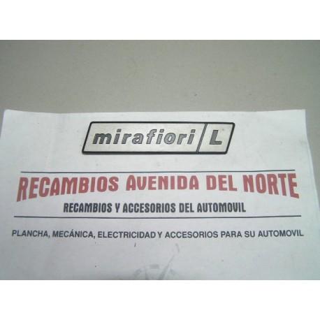 ANAGRAMA TRASERO SEAT 131 MIRAFIORI L
