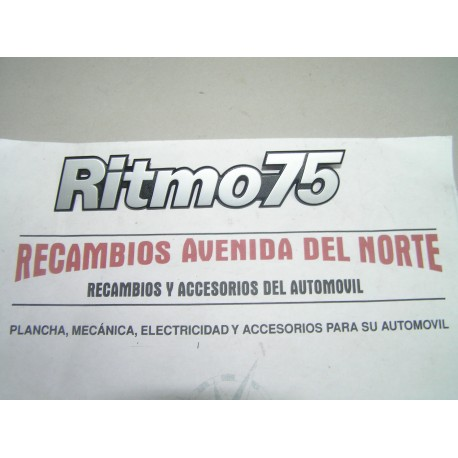 ANAGRAMA TRASERO SEAT RITMO 75