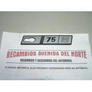 ANAGRAMA LATERAL SEAT RITMO 75 CLX DERECHO