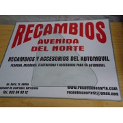 CRISTAL GIRATORIO BLANCO SIN HERRAJES D/I SEAT 850 2 PUERTAS