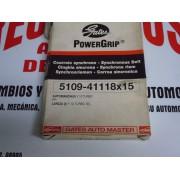 CORREA DISTRIBUCION LANCIA Y AUTOBIANCHE Y 10 TURBO DEL 84-85 REF POWERGRIP 5109-41118X15