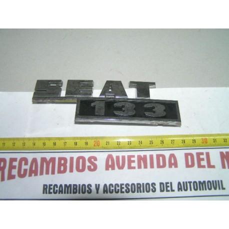 ANAGRAMA TRASERO SEAT 133