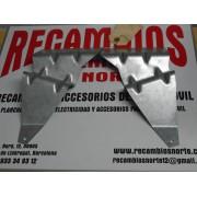 JUEGO DE SOPORTES DERECHO E IZQUIERDO FAROS ANTINIEBLA RENAULT 9 REF ORG, 7700710684