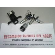 CONJUNTO TODAS LAS CERRADURAS MISMA LLAVE SEAT TOLEDO HASTA 1999 PARA LLAVE CON MANDO