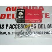 JUEGO DE RETENES VALVULAS SEAT 127 Y PANDA REF PERFECTCIRCLE