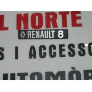 ANAGRAMA TRASERO METALICO RENAULT 8