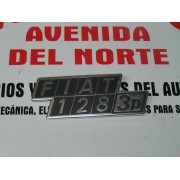 ANAGRAMA TRASERO METALICO SEAT 128 3 PUERTAS