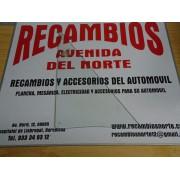 CRISTAL FIJO BLANCO SEAT 850 4 PUERTAS