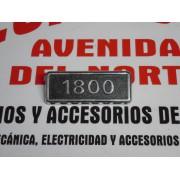 ANAGRAMA LATERAL SEAT 131 1800 LETRAS CROMADAS