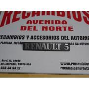 ANAGRAMA RENAULT 5 DE PLASTICO